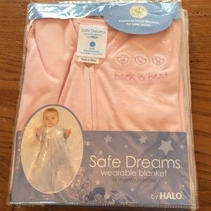 Pink halo safe dreams wearable blanket 0-6 months